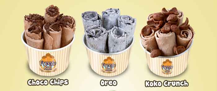 Ice Cream Roll Choco Chips, Oreo & Koko Crunch